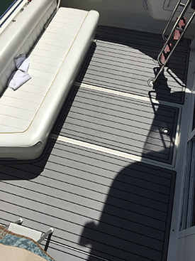 Sea Ray 37 Aft Deck with AquaTraction
